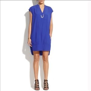 Madewell Royal Blue High Low Dress
